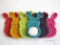 Repeat Crafter Me Crocheted Bunny Silhouette